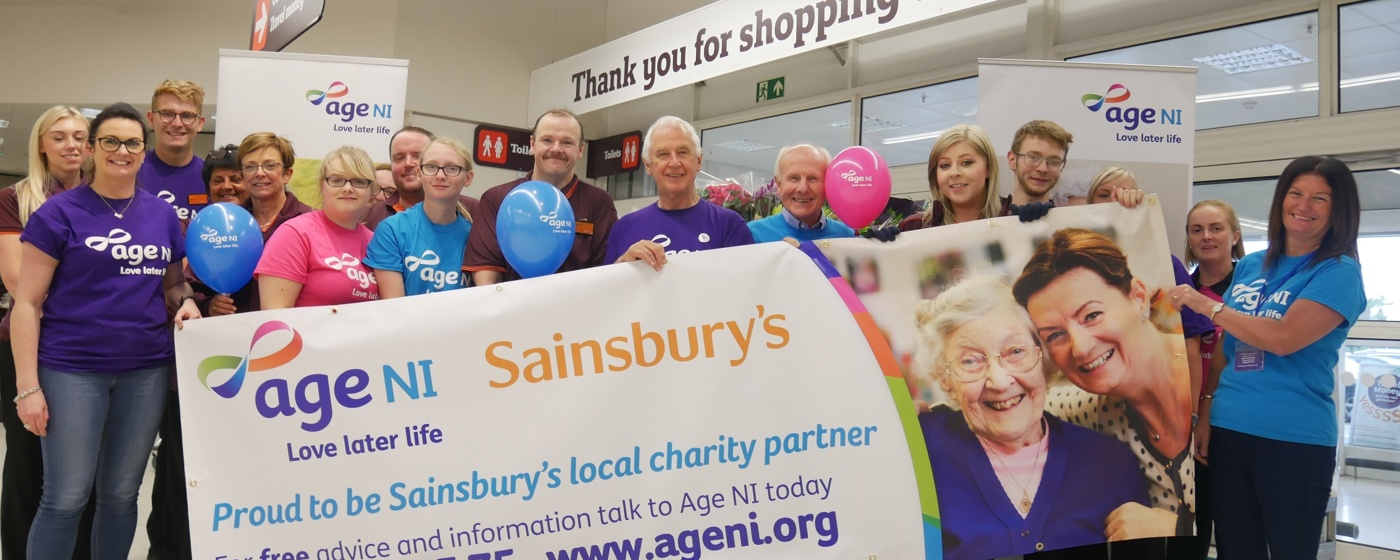 Sainsburys Sprucefield Choose Age NI as Charity Partner