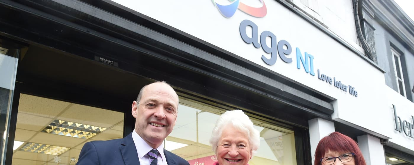 Lady Mary Peters opens new Newtownards shop
